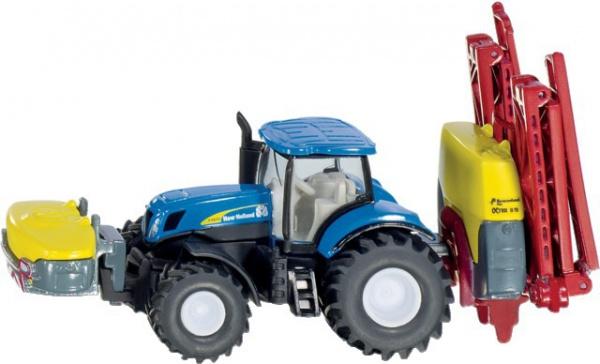 Tracteur New Holland avec pulvérisateur Vicon