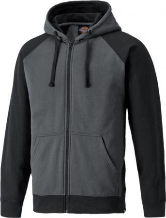 Sweatshirt zippe a capuche Dickies gris noir xxl