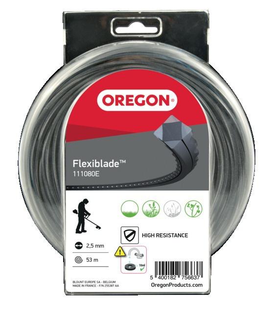 Fil de débroussailleuse denté Flexiblade ø 2,5 mm 53 m Oregon