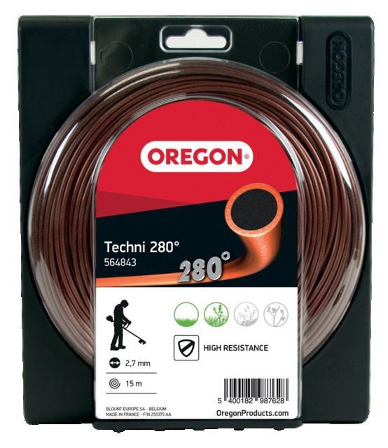 Fil de débroussailleuse rond Techni 280° haute résistance ø 3 mm 15 m Oregon