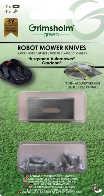 Lame réversible robot de tonte Automower Husqvarna  / Gardena / Flymo