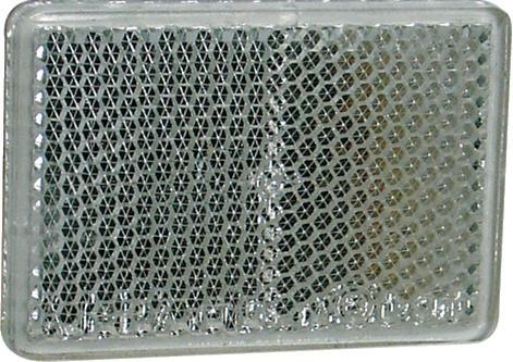 CATADIOPTRE RECTANGULAIRE BLANC 57X40 ADHESIF (BOX 2)