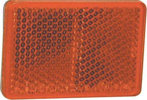 CATADIOPTRE RECTANGULAIRE ORANGE 57X40 ADHESIF (BOX 2)
