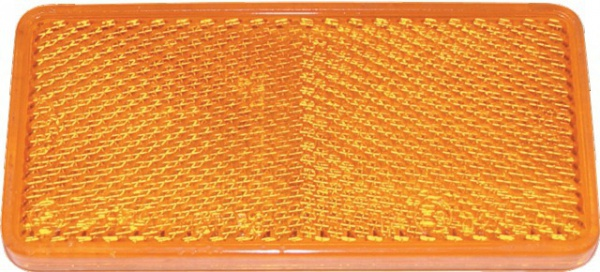 CATADIOPTRE RECTANGULAIRE ORANGE 94X44 ADH.(BOX DE 2)