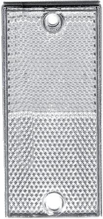 CATADIOPTRE RECTANGULAIRE 105X48 BLANC (BOX DE 2)