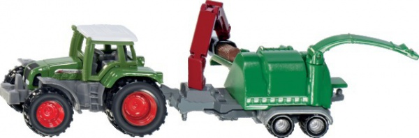 Tracteur fendt+broyeur de branche 1675