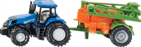 Tracteur New Holland+pulvérisateur amazone