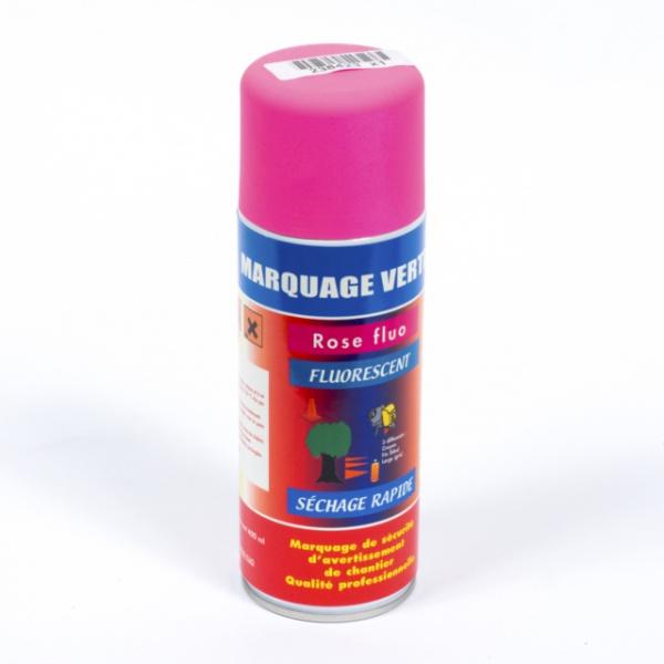 BOMBE DE PEINTURE MARQUAGE SOL VERTICAL ROSE FLUO 400 ML