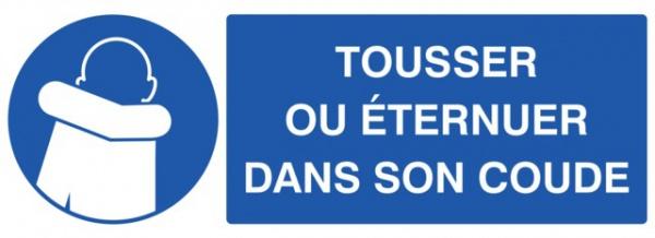 ADHESIF PVC RECTANGLE «OBLIGATION DE TOUSSER DANS SON COUDE »