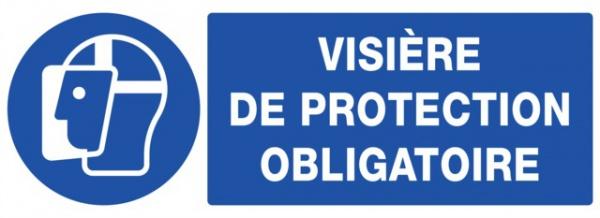 ADHESIF PVC RECTANGLE «PORT D4UNE VISIERE OBLIGATOIRE »