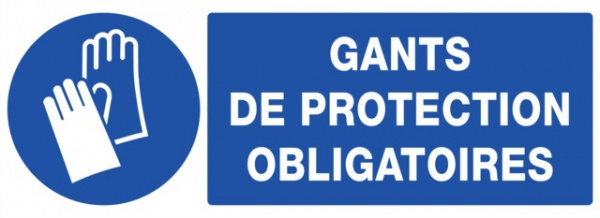 ADHESIF PVC RECTANGLE «PORT DES GANTS OBLIGATOIRE »