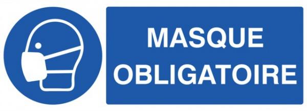 ADHESIF PVC RECTANGLE «PORT DU MASQUE OBLIGATOIRE »