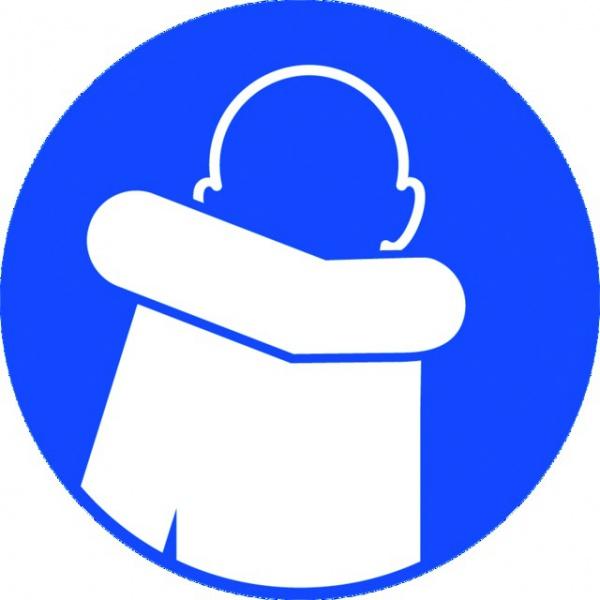 ADHESIF PVC ROND «OBLIGATION DE TOUSSER DANS SON COUDE »