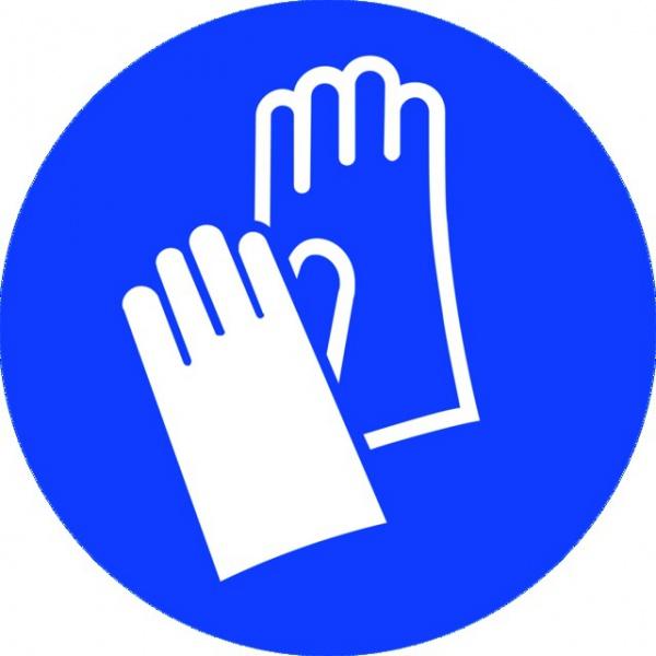 ADHESIF PVC ROND «PORT DES GANTS OBLIGATOIRE »