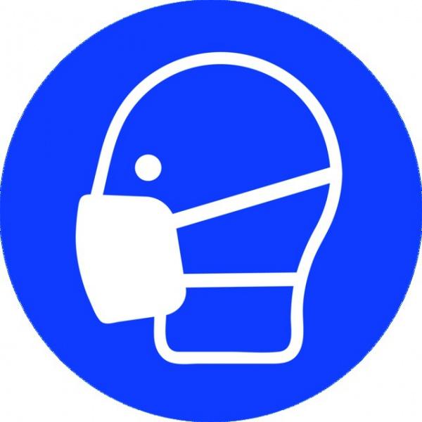 ADHESIF PVC ROND «PORT DU MASQUE OBLIGATOIRE »