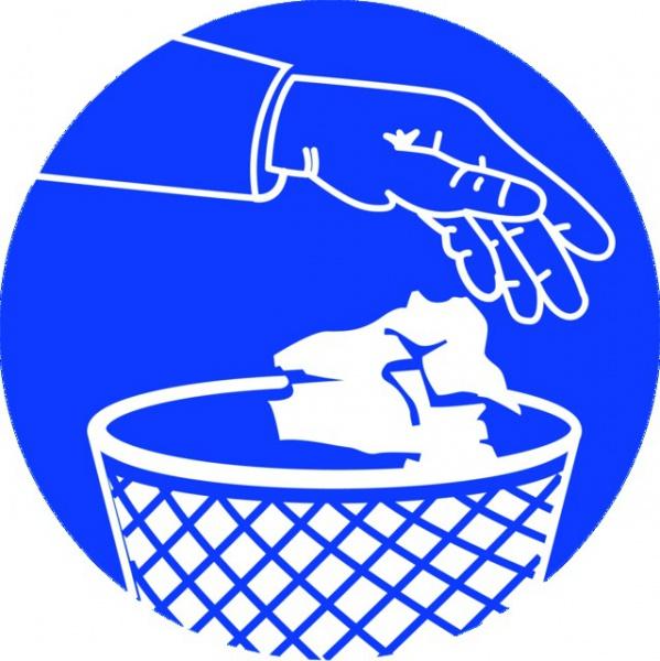ADHESIF PVC ROND «UTILISATION OBLIGATOIRE DES POUBELLES »
