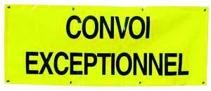 BACHE CONVOI EXCEPTIONNEL 190X250