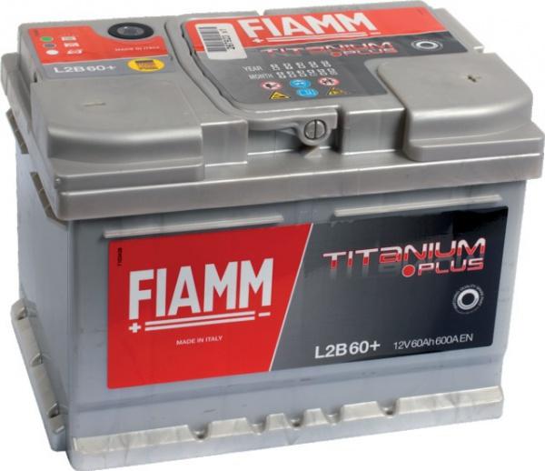 BATTERIE 12V 60Ah 600A EN +DROITE FIAMM TITANIUM PRO L2B60P