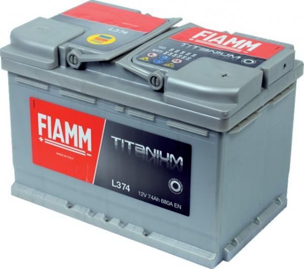 BATTERIE FIAMM TITANIUM PRO 12V 74AH 680A +DROITE