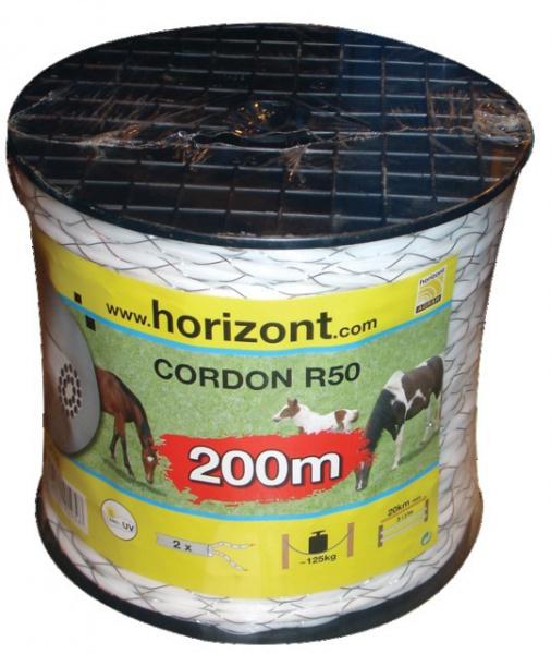 BOBINE CORDON 2 CONDUCTEURS BLANC 200M