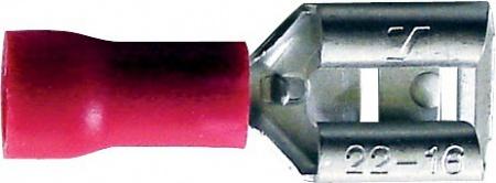 Boite 20 cosses à sertir plate rouge 6,3 mm