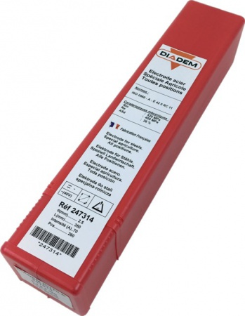 BOITE 260 ELECTRODES RUTILES DIADEM SPECIALES AGRICOLES  D: 2.5X350MM