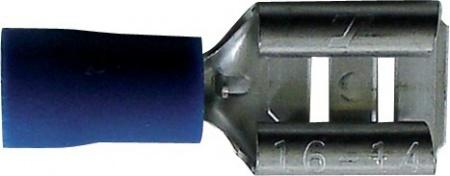 Boite de 25 cosses plates 6,3 mm bleu à sertir