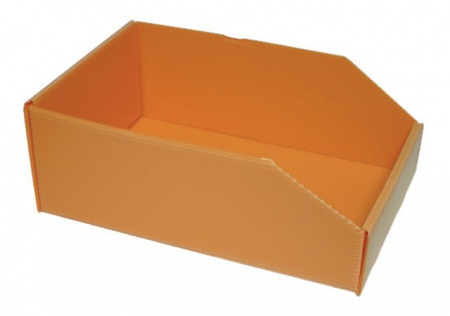 BOITE ORANGE PLASTIBOX 280X180X105/70