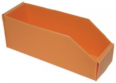 BOITE ORANGE PLASTIBOX 280X90X105/70
