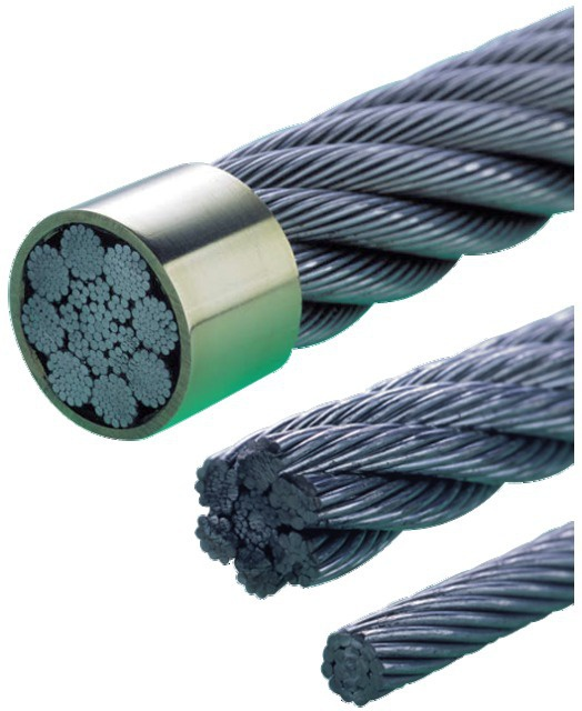 CABLE AC.GALVA 7X7 D4X3 ENROB.PVC BOBINE 200M