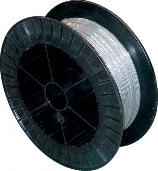 CABLE AC.GALVA 7X7 D5X3 ENROB.PVC TOURET 100M