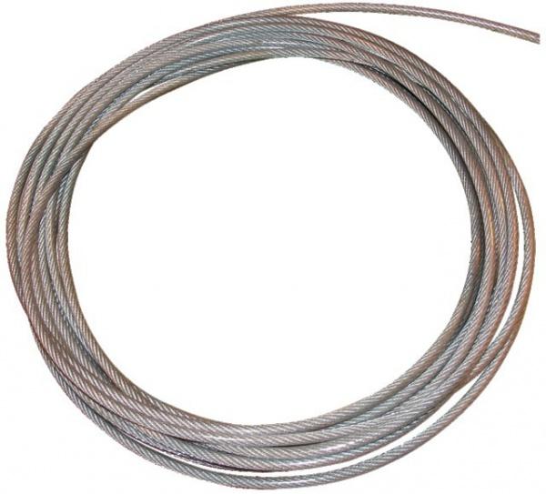 CABLE ACIER/GALVA 6,0>8MM PVC REVETU LE METRE