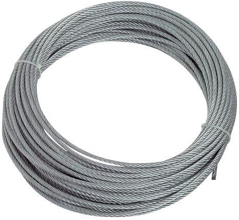 CABLE ACIER INOX 316 Ø6mm 7x7 (LE METRE)