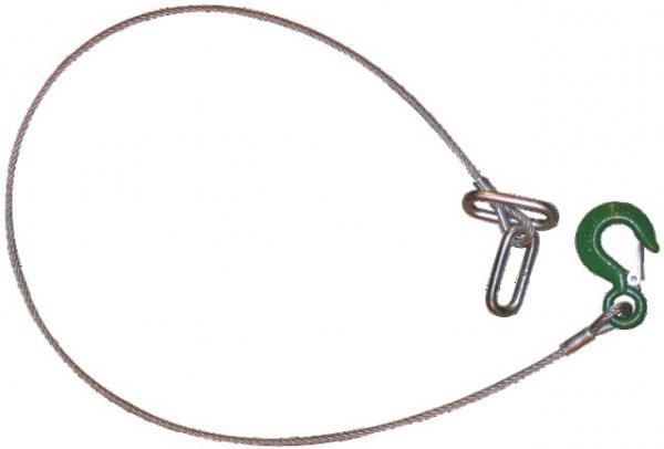 CABLE DE SECURITE D.6 LG.UTILE 1410