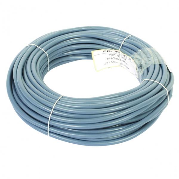 Câble gris souple 2X1,5mm²