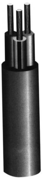Câble HO5VVF gris trois conducteur 1,5mm²