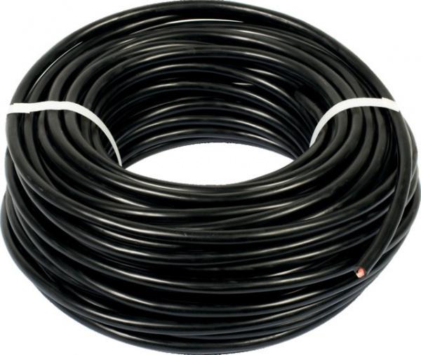 Câble noir cinq conducteurs de section 1,5 mm²
