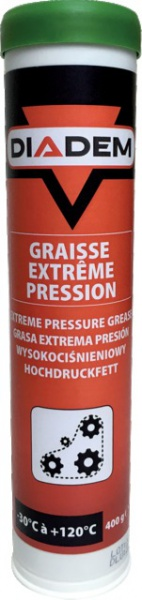 CARTOUCHE DE GRAISSE DIADEM VERTE EXTREME PRESSION