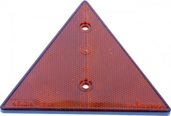 CATADIOPTRE TRIANGLE ROUGE 160X160X160 mm