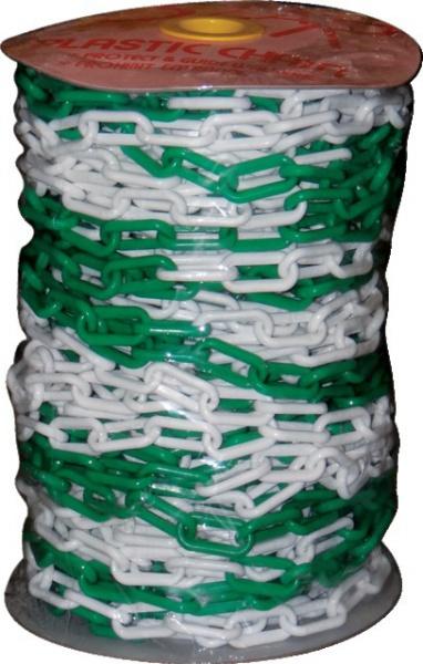CHAINE PLASTIQUE DIA 8  VERT/BLANC    RLX 50M