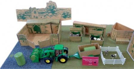 Miniatures bâtiments, figurines, accessoires