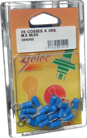 Cosses à sertir bleu à œil m10 (boite de 25)