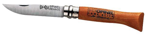 Couteau lame acier carbone Opinel N°8