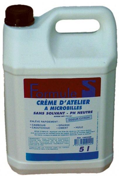 """CREME MICROBILLE PH NEUTRE \""""FORMULE S\"""" 5L"""