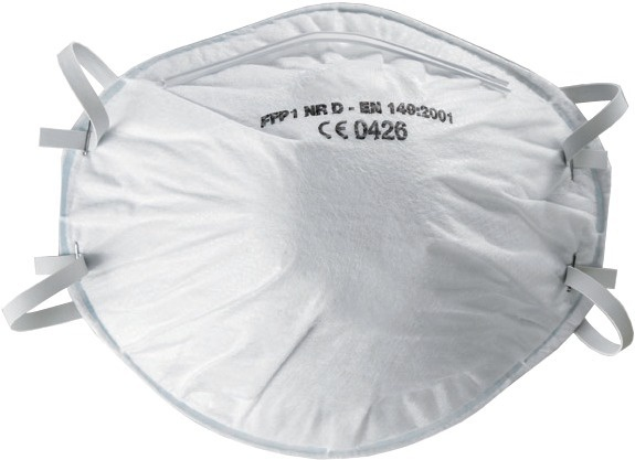 Demi-masque anti-poussière à usage unique FFP1