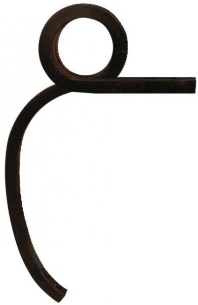 Dent adaptable double spire gauche 30X30 mm de dégagement 530 mm
