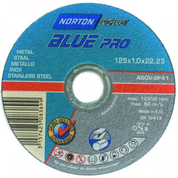 DISQUE À TRONÇONNER MÉTAL/INOX 125 X 1 X 22,2 MM BLUE PRO