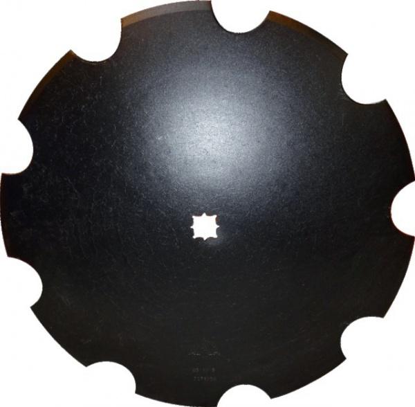 Disque crénelé diamètre 510X4 mm trou carré 26 ou 31 mm adaptable Kverneland KK121205
