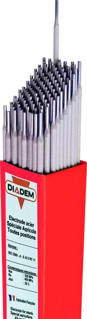 Électrodes rutiles Diadem spéciales agricoles 2.5x350mm (boite de 260)