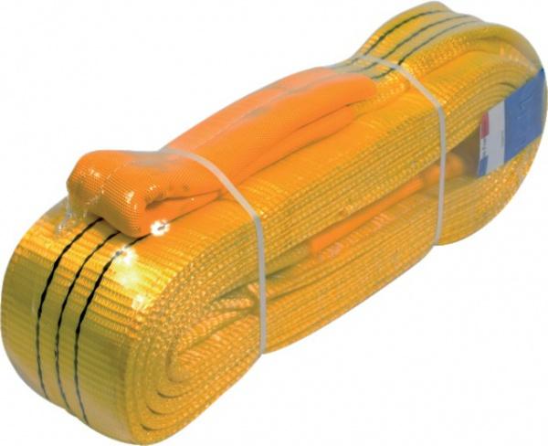 Elingue jaune plate 5 mètres textile 90 mm